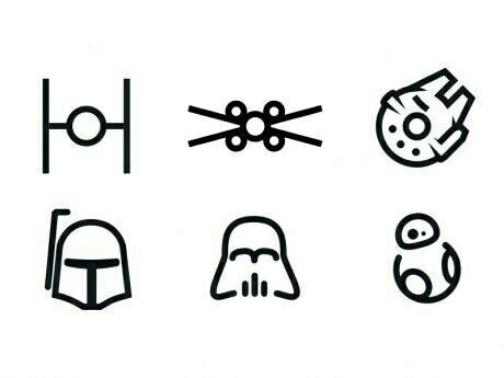 Simple Star Wars Icons Star Wars Tattoo Star Tattoos