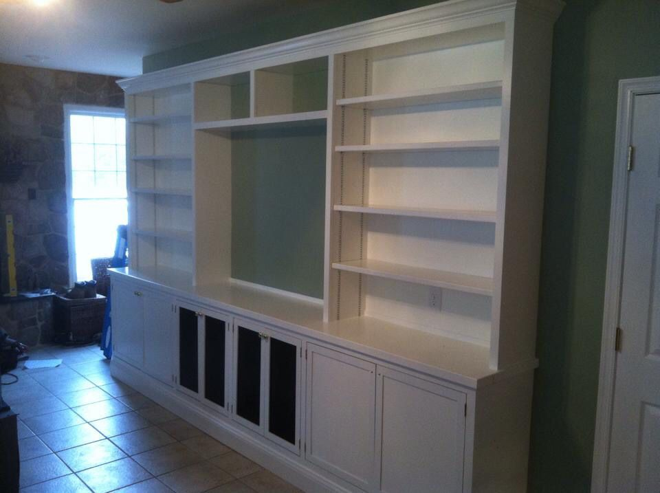 Wall unit for Gaithersburg couple. Note the wire mesh doors for component ventilation & Wall unit for Gaithersburg couple. Note the wire mesh doors for ...