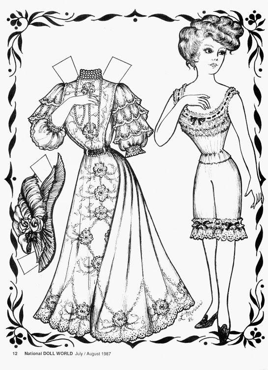 Magazine dolls   Paper Doll: Black and White   Ilustraciones