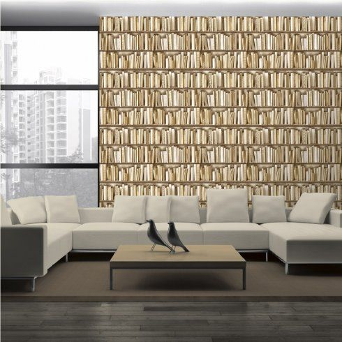 Muriva Virtual Reality Books Bookcase Bookshelves Wallpaper J43027