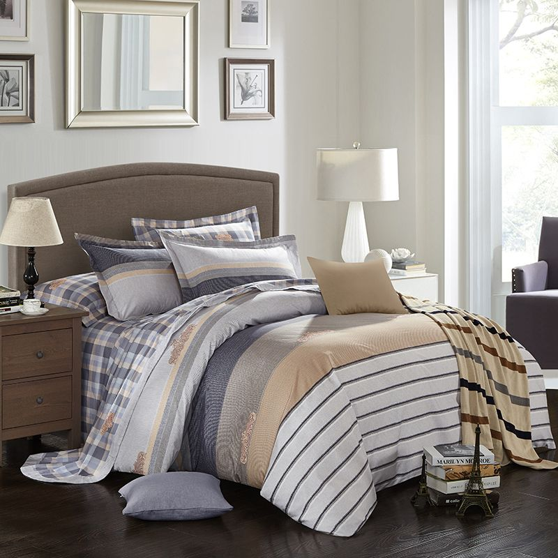 home d cor on a budget Plaid stripe bed linen set soft cotton king queen  size Bedding set bed sheet set duvet cover pillow shams    AliExpress  Affiliate s. home d cor on a budget Plaid stripe bed linen set soft cotton king
