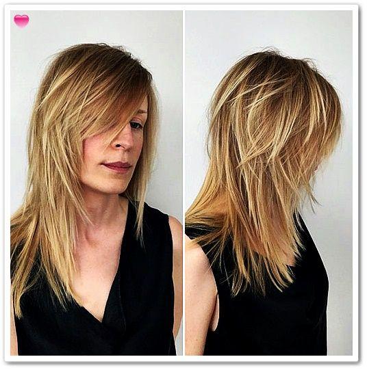 40 lange Frisuren en Haarschnitte für feines Haar #friseur ...