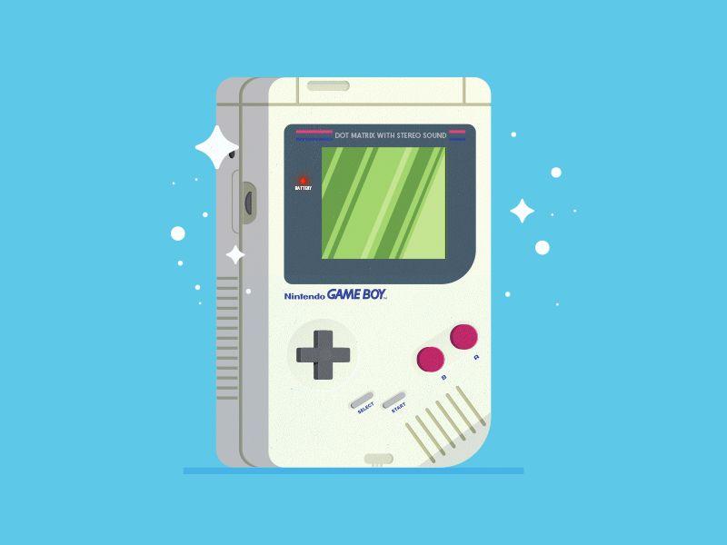 Game Boy Gameboy Digital Art Design Isometric Illustration