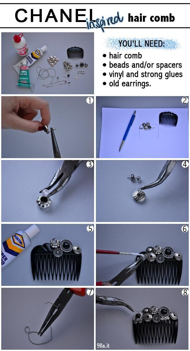 DIY Chanel Hair Comb DIY Hair Accessories DIY Hair Comb