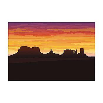 3 Pc. Western Desert Backdrop Banner