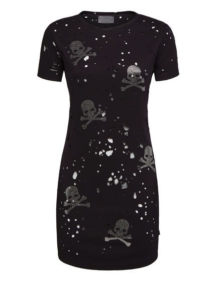 7682624f330 T-Shirt Short Dresses Skull   Philipp Plein in 2019   Short dresses ...