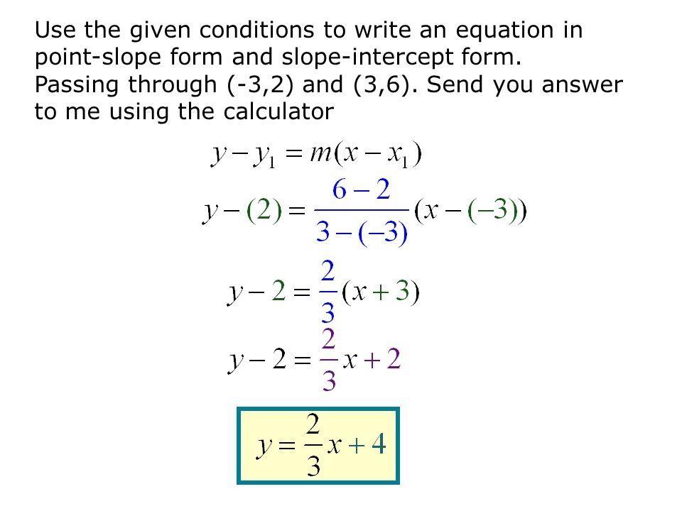 write slope intercept form equation calculator  tessshebaylo
