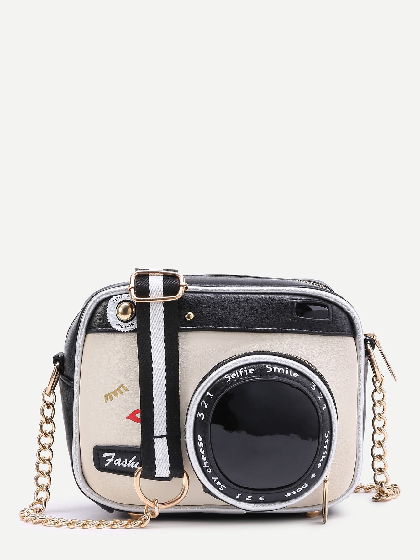 caf29b47c2 Shop Camera Shaped Crossbody Bag With Buckle online. SheIn offers Camera  Shaped Crossbody Bag With Buckle & more to fit your fashionable needs.