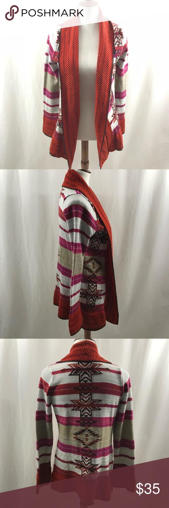 Red and black flannel cardigan  BCBG Max Azria Cascade Tribal Open Front Cardigan  My Posh Picks