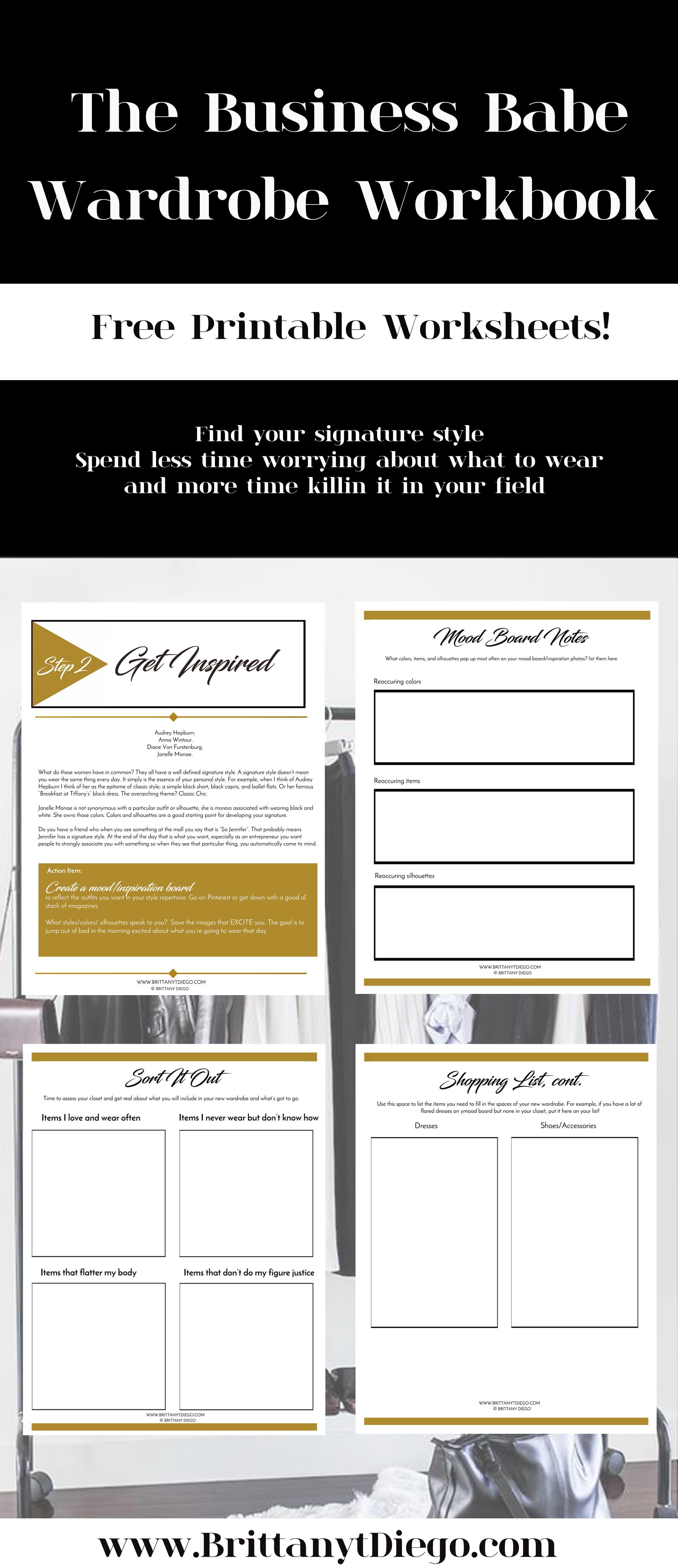 Free Printable Fashion Capsule Wardrobe Worksheets Fill