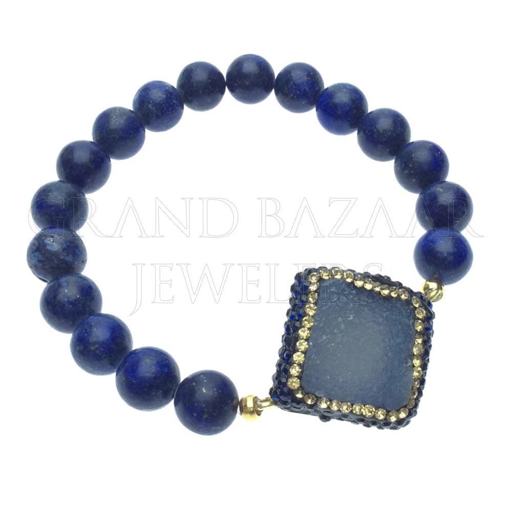 Druzy Raw Crystal Gemstone Bracelets Druzy jewelry Gemstone and