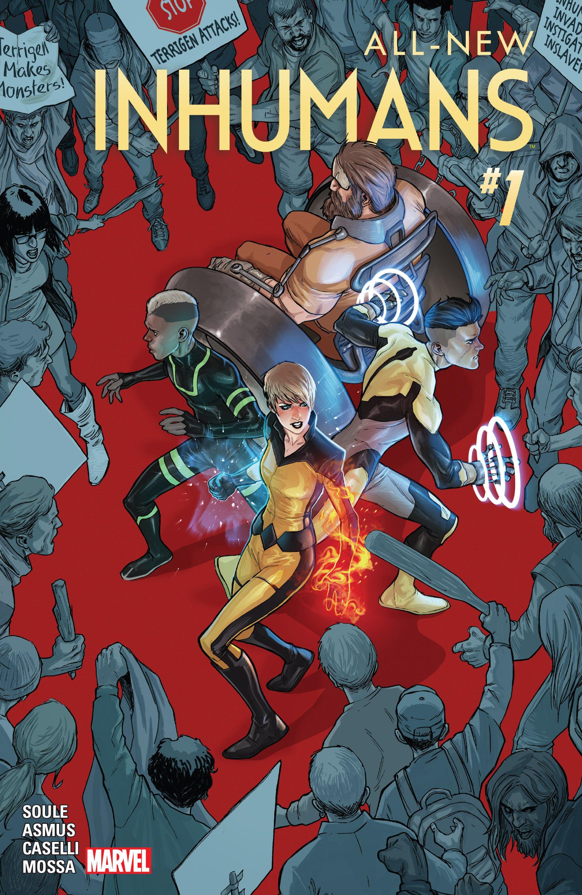 All new inhumans comic cover komik