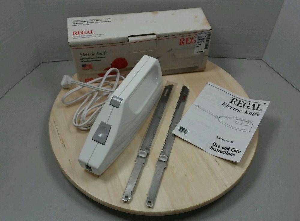 Regal Electric Knife Blades Original Box Instructions Model K382 Meat Slicer Food Processor Recipes Electric Knife Meat Slicers