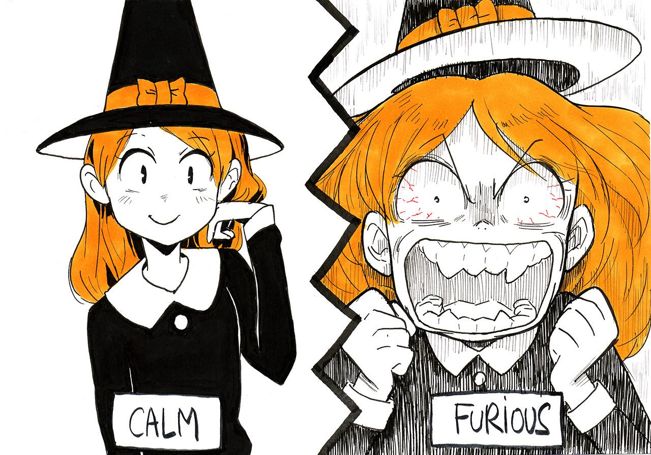 Inktober day 21 furious Ok, something funny (With images