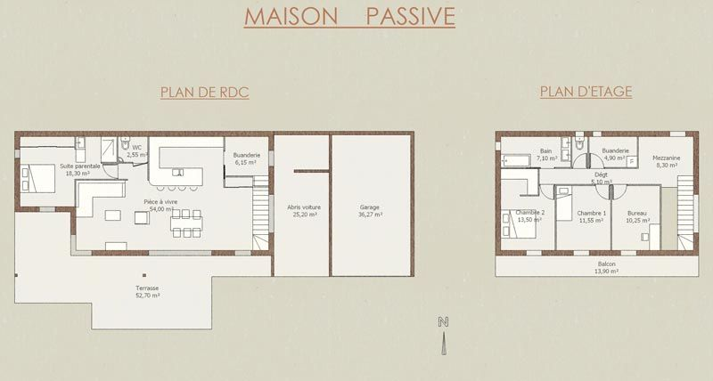 Plan Maison Bioclimatique Plain Pied Plan 8