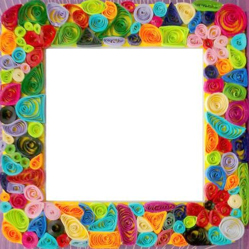 Photo frame which  have made using paper quilling technique also idei creative  quiling rame foto and tutorials rh uk pinterest