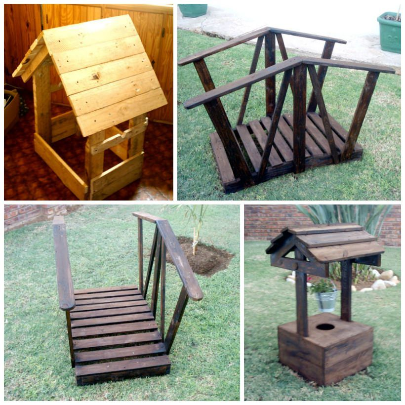 Garden Decor Using Pallets: Garden Decorations Made From Pallet Wood