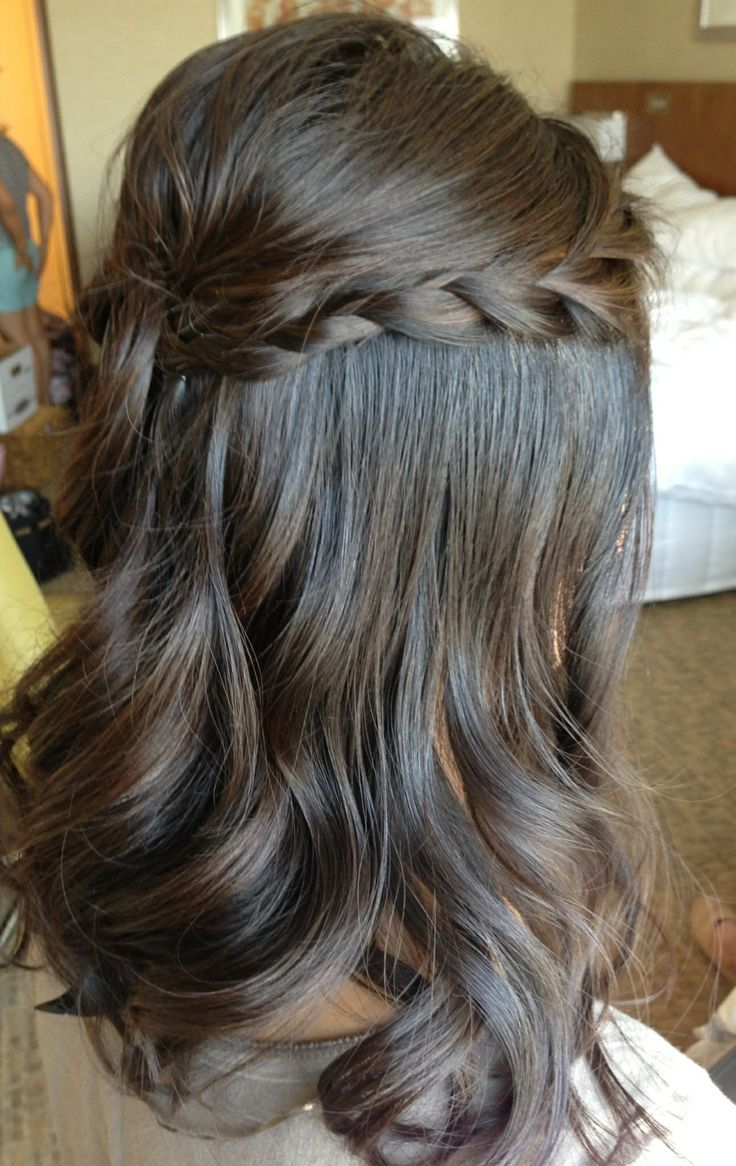 half up half down wedding hairstyles with braids half up half down