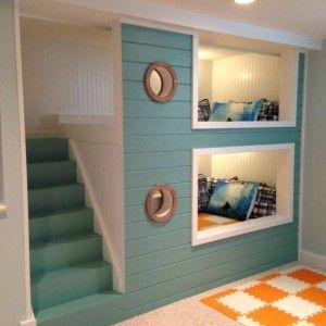 built in bunk beds - Google Search   Bedroom Dorms   Pinterest
