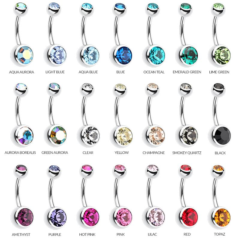 Cute Dangle Belly Bar Button Navel Ring Body Piercing Jewelry For Lady Girls