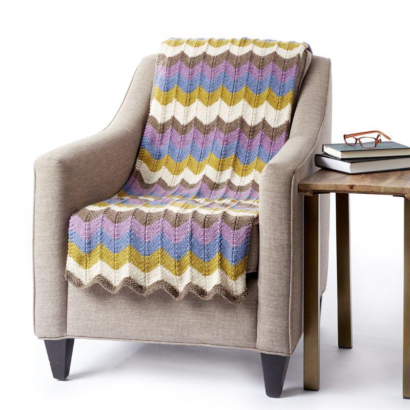 Bernat Big Stripes Making Waves blanket - striped yarn - striped ...