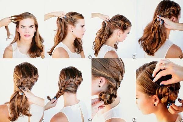 Excepcional tranca-lateral-com-coque-para-festas | hair | Pinterest | Penteado  AR53