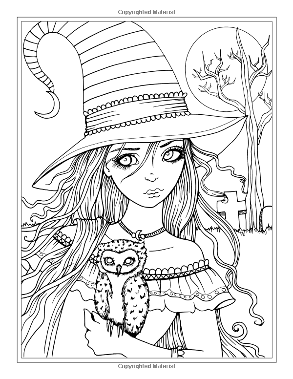 Autumn Fantasy Coloring Book Halloween Witches Vampires And Autumn Fairies Witch Coloring Pages Halloween Coloring Book Halloween Coloring Pages