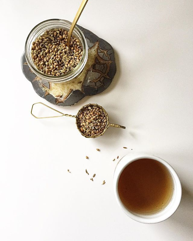 CCF Tea | a staple in the Ayurvedic cold weather kitchen. Brew a gentle tea with equal parts cumin, coriander + fennel and sip warm around meals to stoke your digestive fire. Recipe on the #vidyajournal #ayurveda #healingdigestion #vidyaliving #ayurvedalife