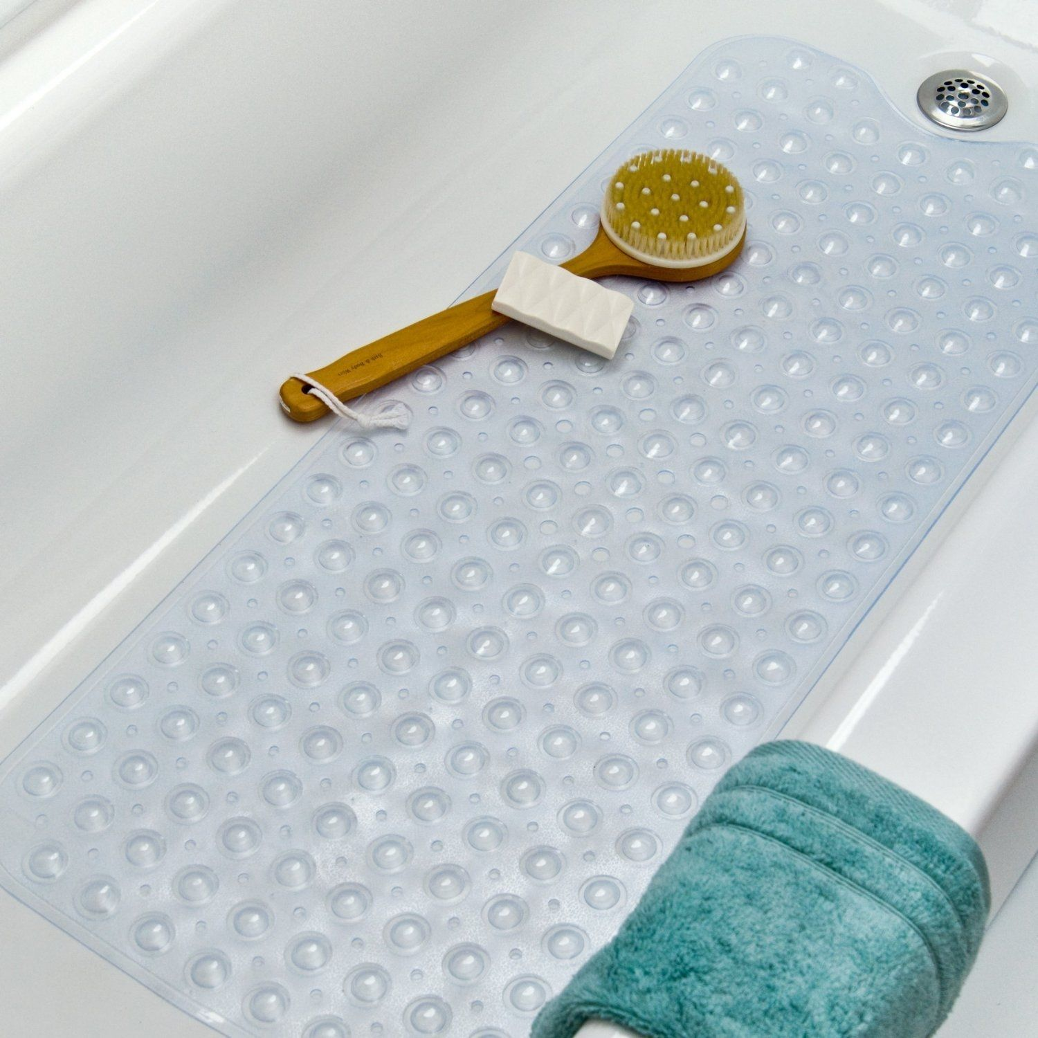 Ginsey Rubbermaid Extra Large Rubber Bath Mat White