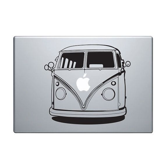 VW bus sticker BLACK high quality vinyl Volkswagen by realBIGdeals