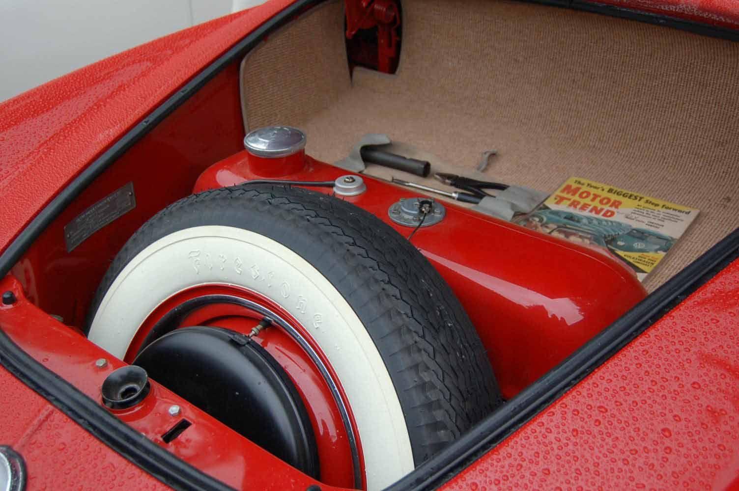 Restored Trunk Area In 1959 Volkswagen Karmann Ghia Coupe Vw Karmann Ghia Karmann Ghia Volkswagen Karmann Ghia