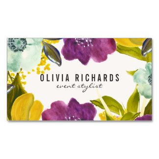 Boho watercolor flowers floral business card business cards shop customizable floral business cards and choose your favorite template from thousands of available designs accmission Choice Image
