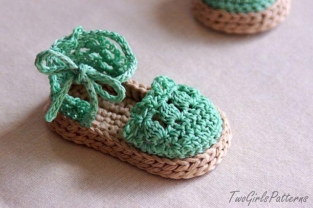 Baby Sandals Espadrille Shoe Booties pattern by Lorin Jean | crochet ...