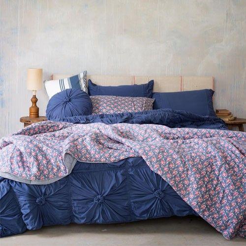 Lazybones Rosette Quilt - Indigo | Home Decor | Pinterest ... : rosette quilt - Adamdwight.com