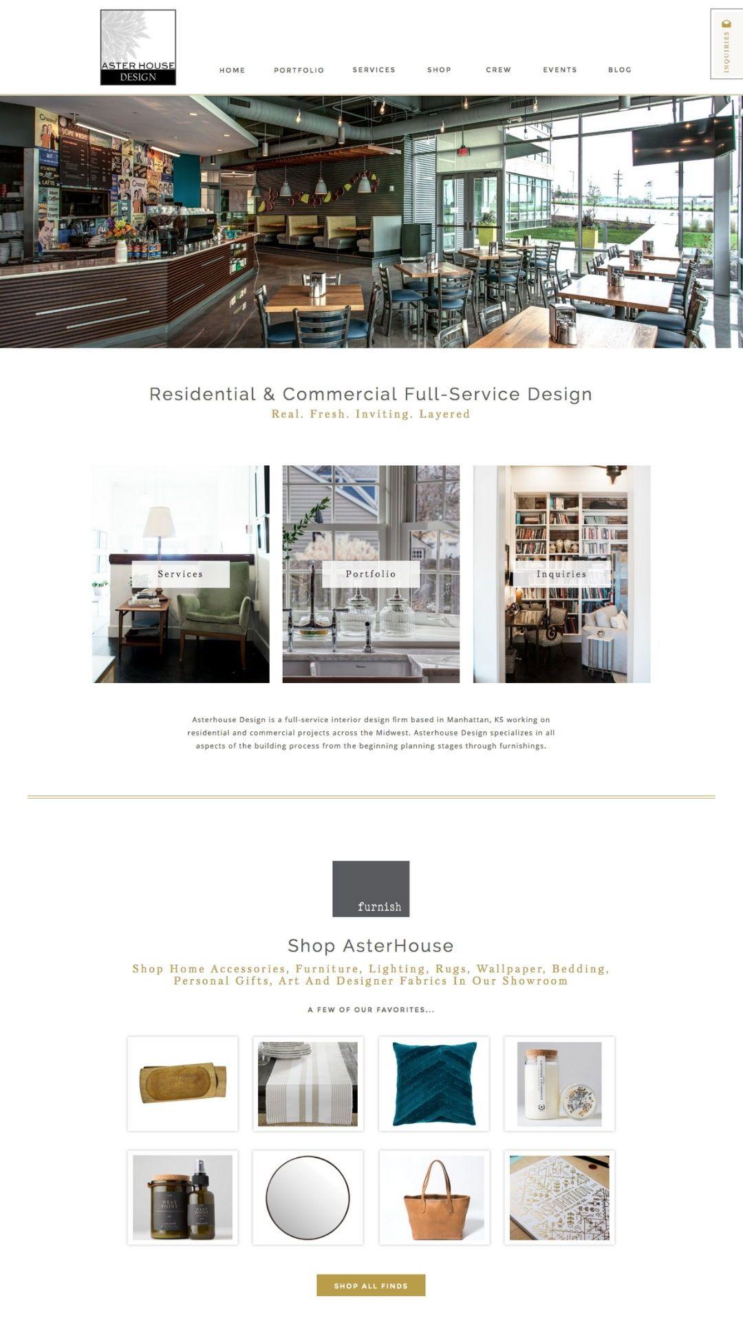 Custom Showit Website Design For Interior Design Company Designed By Oregon Lane Studio Www Orego Web Design Studio Website Design Interior Design Companies