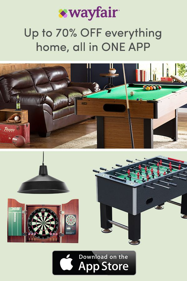App To Design Your Room: Download The Wayfair App Today! Find The Perfect Game Room
