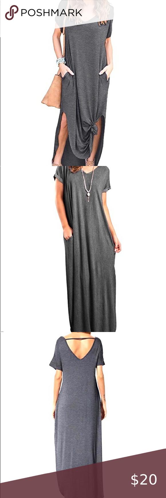 Heather Grey Boho T Shirt Maxi Dress Sz Xl Nwt Maxi Shirt Dress Maxi Dress Amazon Dresses [ 1740 x 580 Pixel ]