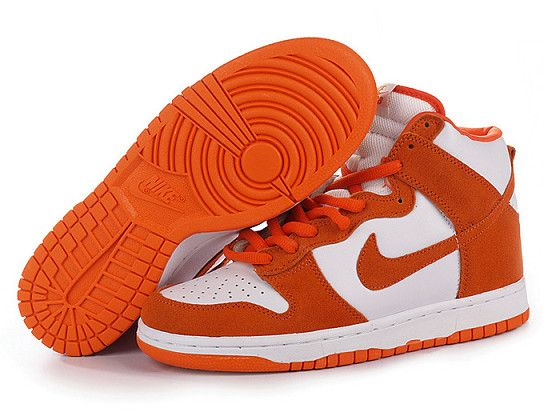 Discount Authentic Mens Nike Dunk High Shoes Navy/Cream/Orange/White