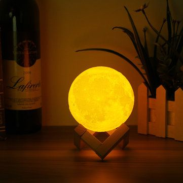 10cm 3d Magical Two Tone Moon Table Lamp Usb Charging Luna Led Night Light Touch Sensor Gift Indoor Lighting From Lights Lighting On Banggood Com Led Night Light Night Light Lamp