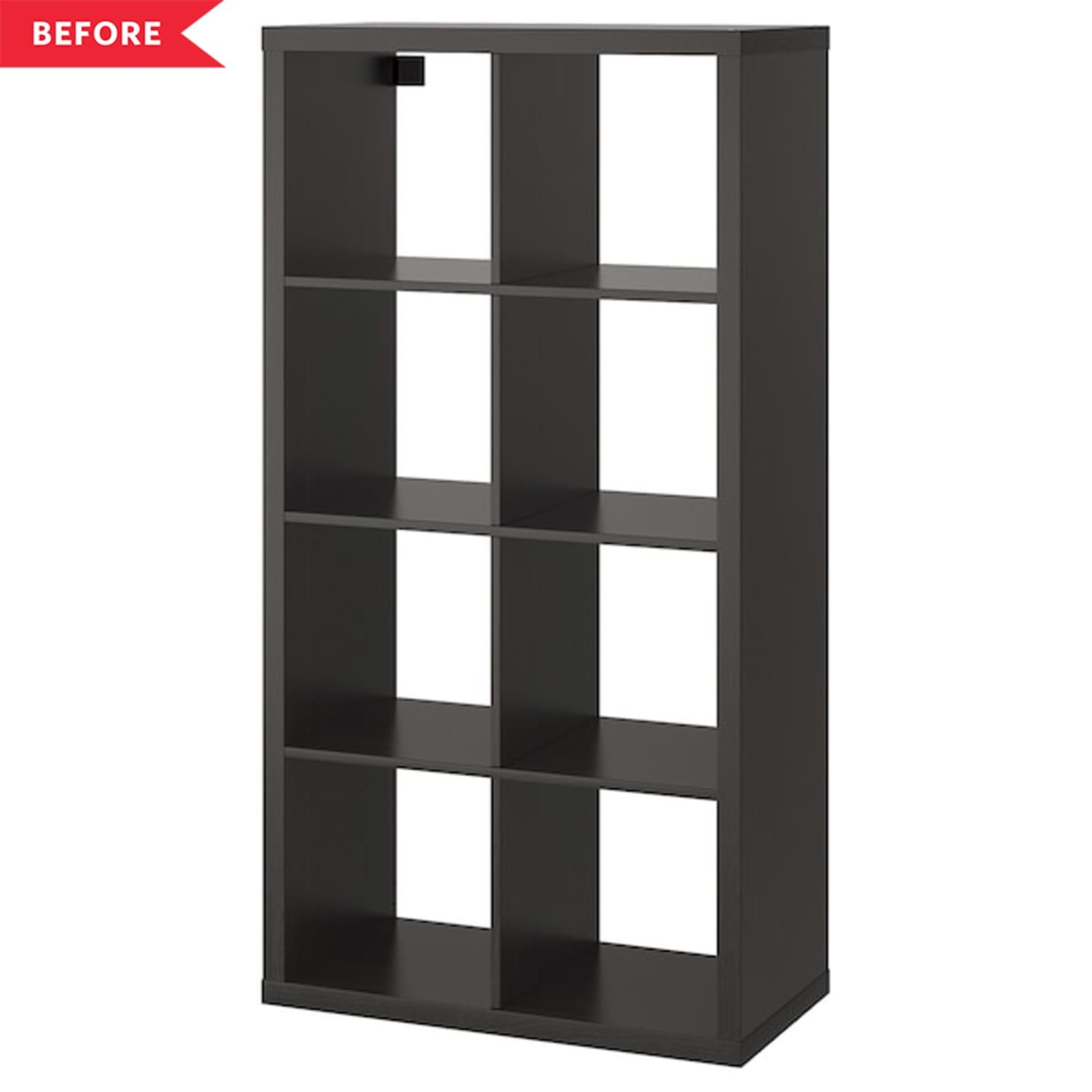 Before And After A 120 Project Gives Old Ikea Kallax Shelves A Farmhouse Spin In 2020 Kallax Shelf Unit Kallax Shelving Unit Kallax Ikea