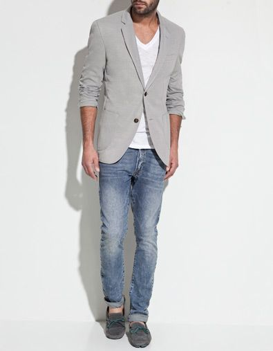 b2eb6879 pique blazer with elbow patches // zara | boy-wonder | Mens fashion ...
