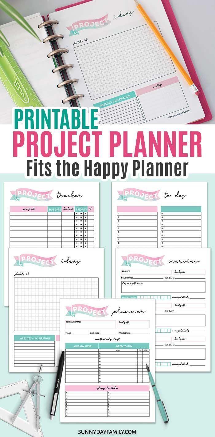 Photo of Projektplanerseiten, die auf jede Größe gedruckt werden können (passend für den Happy Planner)