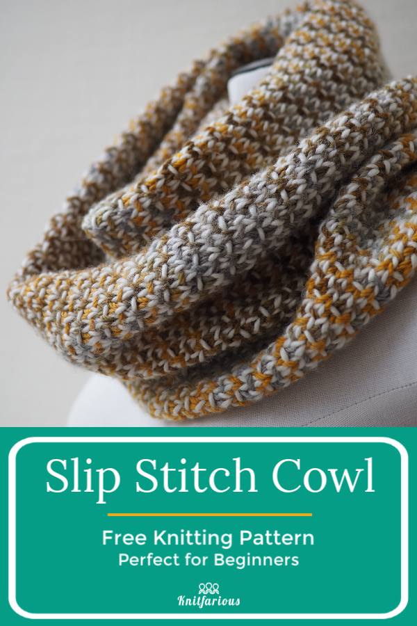 Photo of Slip Stitch Cowl: Knitting for Beginners