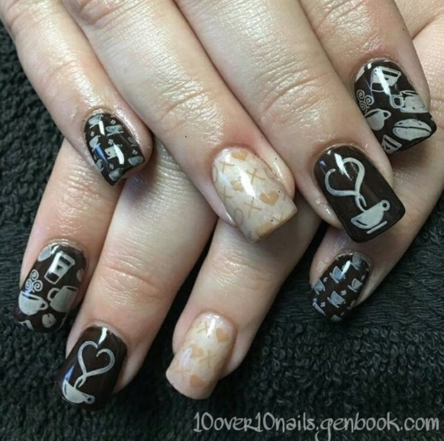 Nail Art For National Coffee Day Nail Art Community Pins
