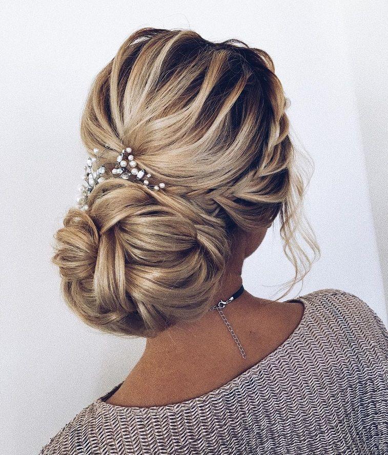 Dutch Crown Braid Updo Wedding Hairstyle Elegant Wedding Hair