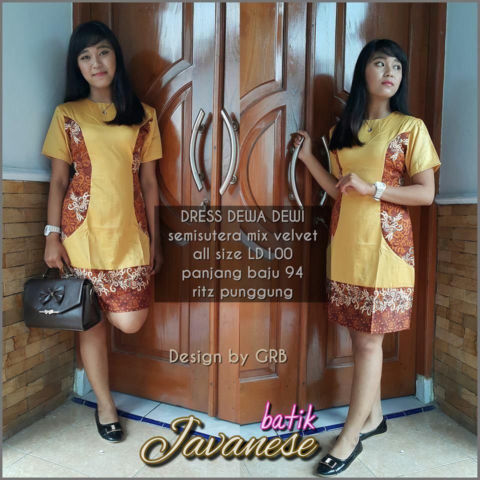 WA 12, Batik Dress Natal, Seragam Batik Natal Dress