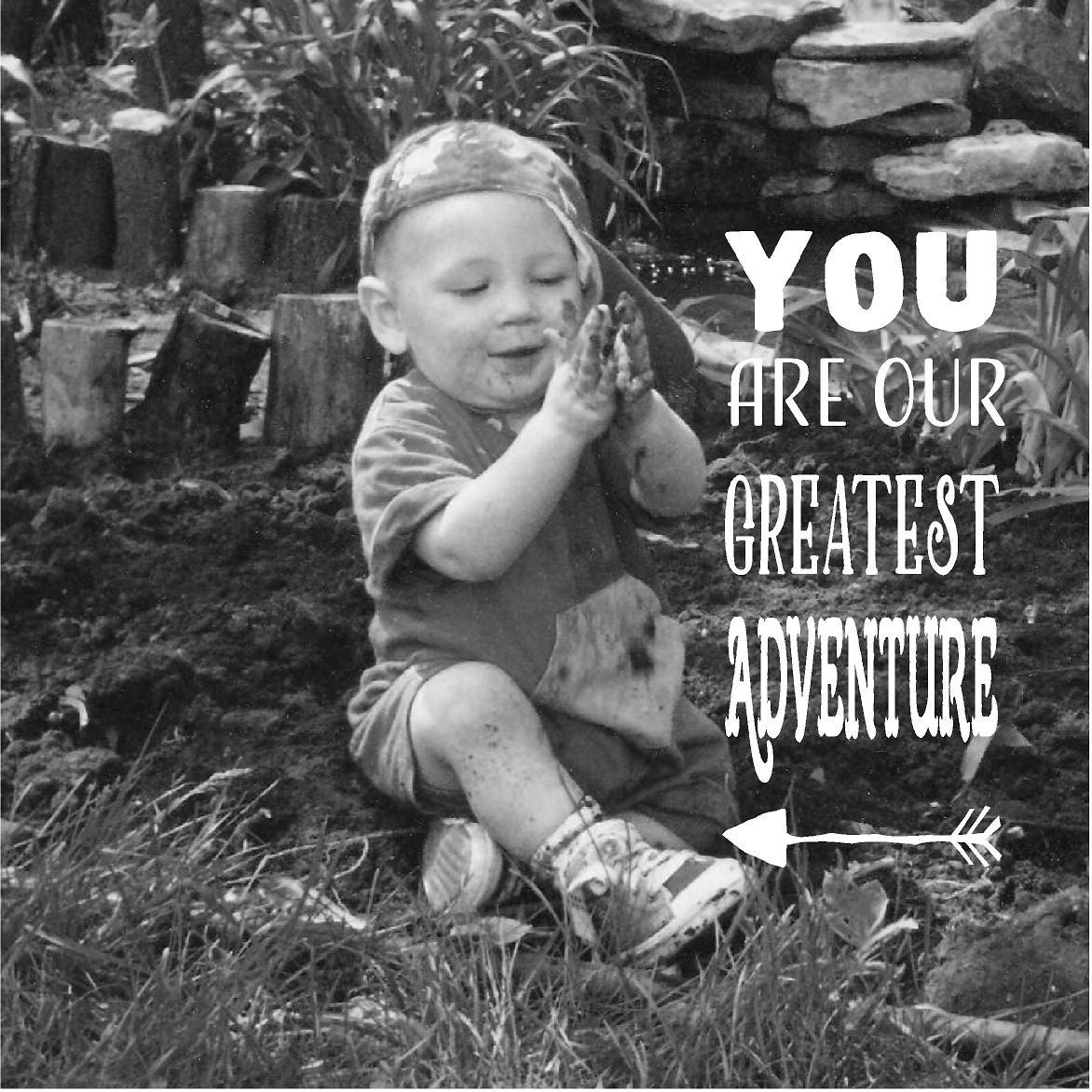Custom Photo Canvas Wood Sign You're Our Greatest Adventure New Baby Gift…