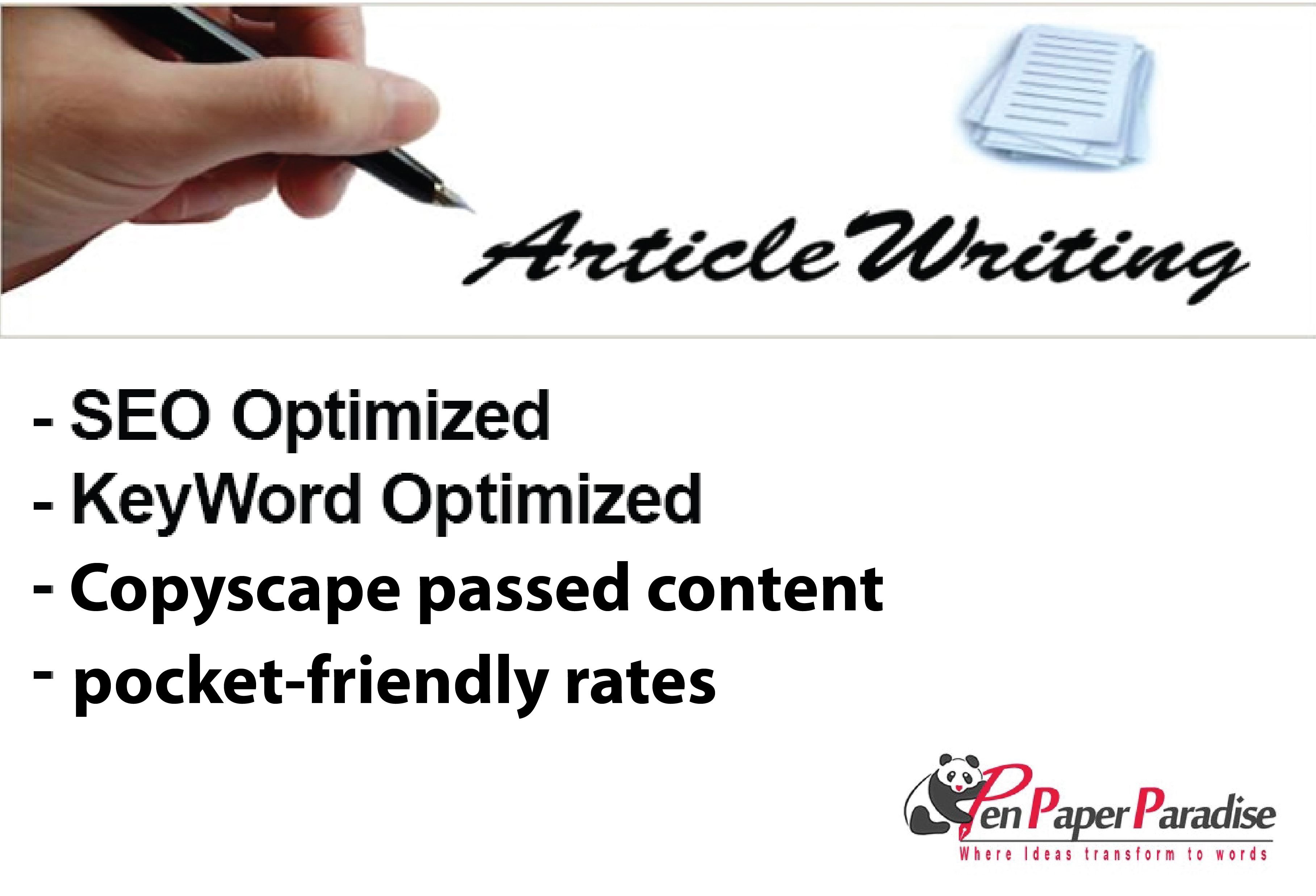 SEO Article Writing Service – The Best Seo Article Writing Service In The World