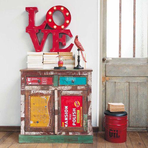 Applique luminosa rossa Love Central Park home ideas Pinterest - Meuble Bibliotheque Maison Du Monde