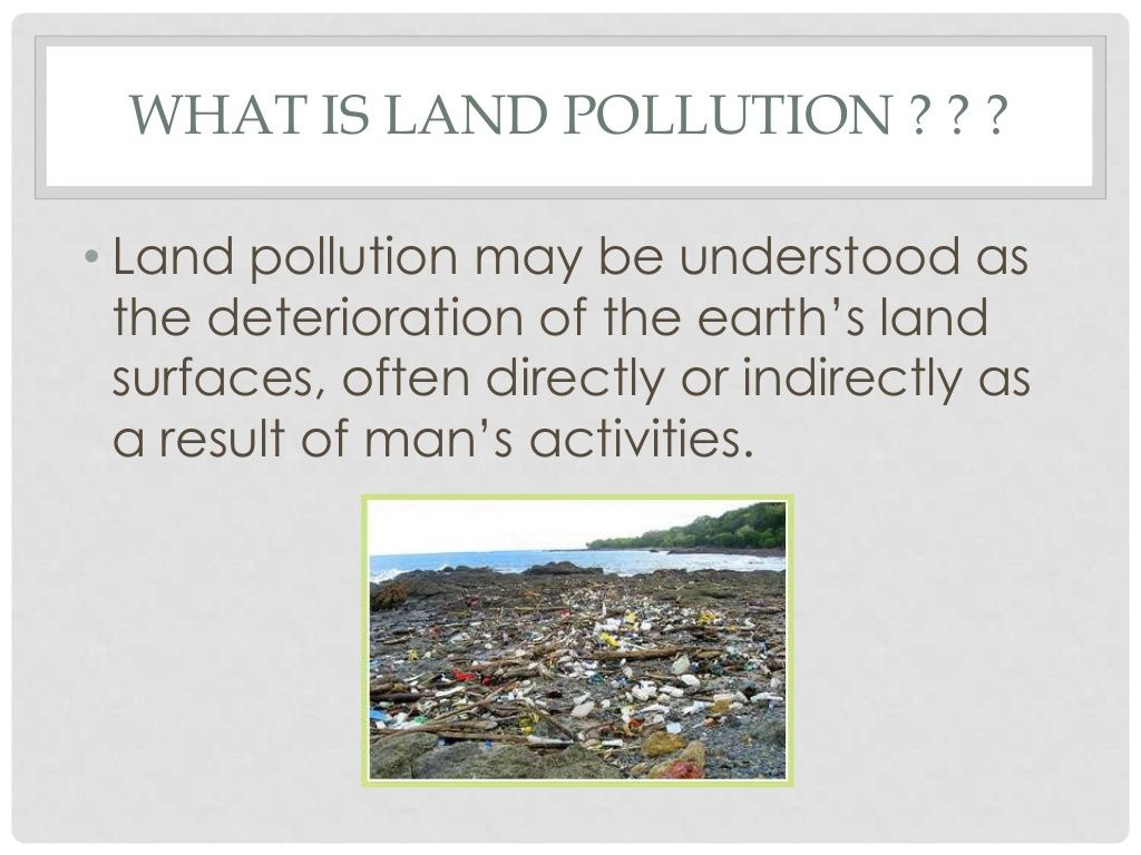 What I Land Pollution May Be Understood A The Deterioration Of Earth S Surface Often Essay
